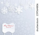 christmas background with white ... | Shutterstock . vector #159564806