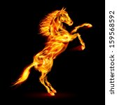 Fire Horse Rearing Up....