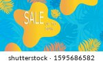 summer sale banner template... | Shutterstock .eps vector #1595686582