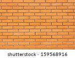 red brickwork, background - stock photo