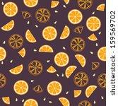 orange slices on violet... | Shutterstock .eps vector #159569702