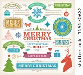 christmas decoration vector... | Shutterstock .eps vector #159570632
