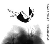 falling backwards woman in... | Shutterstock .eps vector #1595714998