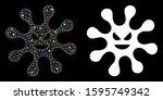 flare mesh evil bacteria icon... | Shutterstock .eps vector #1595749342