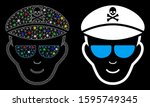 glossy mesh evil soldier face... | Shutterstock .eps vector #1595749345