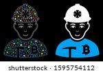 flare mesh bitcoin miner icon... | Shutterstock .eps vector #1595754112