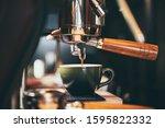 Close Up Of Espresso Pouring...