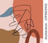 modern abstract art...   Shutterstock .eps vector #1595825932