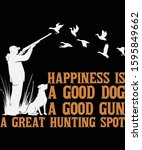 happiness is a good dog a good... | Shutterstock .eps vector #1595849662