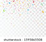 color confetti isolated on...   Shutterstock .eps vector #1595865508