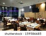 new and clean luxury restaurant ... | Shutterstock . vector #159586685