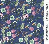 beauty flower background vector ... | Shutterstock . vector #1595877025