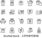 set of gift icons  birthday... | Shutterstock .eps vector #1595895898