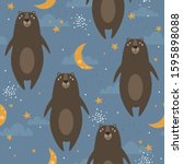happy bears  hand drawn...   Shutterstock .eps vector #1595898088