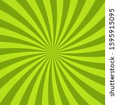 sun rays background. green... | Shutterstock .eps vector #1595915095