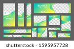 set of creative web banners of... | Shutterstock .eps vector #1595957728