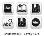 dictionary book vector buttons... | Shutterstock .eps vector #159597176