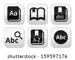 dictionary book vector buttons... | Shutterstock .eps vector #159597176