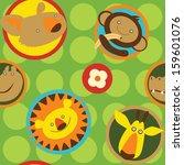 amusing children's pattern with ... | Shutterstock .eps vector #159601076