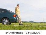 man talking on cell phone... | Shutterstock . vector #15960208