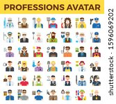 professions and occupation... | Shutterstock .eps vector #1596069202