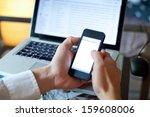 smart phone with empty screen | Shutterstock . vector #159608006