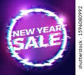 new year sale banner background ... | Shutterstock .eps vector #1596080992
