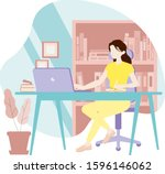 Office Business Woman Write Note