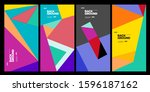 cover and poster design... | Shutterstock .eps vector #1596187162