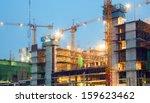 big construction site cranes at ... | Shutterstock . vector #159623462