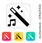 magic music icon. vector...