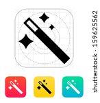 magician wand icon. vector...