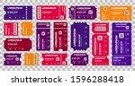 ticket templates mockup ...   Shutterstock .eps vector #1596288418