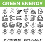 green energy and ecology line... | Shutterstock .eps vector #1596302335