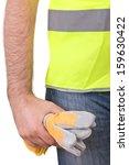 blue collar worker.    Shutterstock . vector #159630422