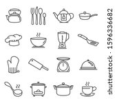 cooking and kitchen vector... | Shutterstock .eps vector #1596336682