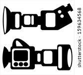 film camera icons isolated on... | Shutterstock . vector #159634568