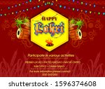 happy lohri illustration for... | Shutterstock .eps vector #1596374608