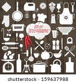kitchen set icon. | Shutterstock .eps vector #159637988
