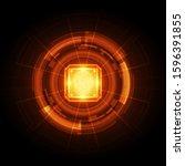 fingerprint integrated in a... | Shutterstock .eps vector #1596391855