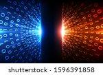 vector abstract futuristic... | Shutterstock .eps vector #1596391858