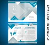 booklet template design catalog ... | Shutterstock .eps vector #159641105