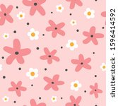 cute seamless pattern with... | Shutterstock .eps vector #1596414592