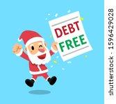merry christmas vector cartoon... | Shutterstock .eps vector #1596429028