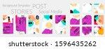 social media story templates....   Shutterstock .eps vector #1596435262