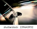 night drive blussed in motion | Shutterstock . vector #159643952