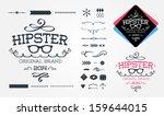 hipster design elements | Shutterstock .eps vector #159644015