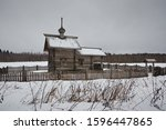 Small Wooden Chapel In Winter...