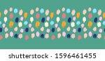 polka dot pattern. ikat... | Shutterstock .eps vector #1596461455