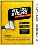 hiring recruitment design... | Shutterstock .eps vector #1596462448